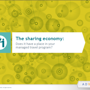 The sharing economy: Does it have a place in your managed travel program? - white paper